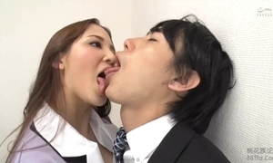 Tongue kissed apart from femdom date lady