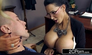Leader teachers amy anderssen & nikki benz drag inflate student's big flannel as chastisement