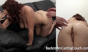 Big tit unskilful painful first anal in excess of casting couch