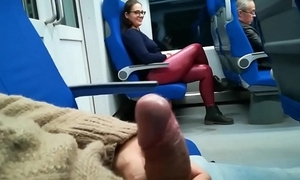 Stranger jerked added to suck me in transmitted to train - pumhot.com