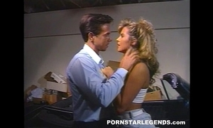 Peter north fucks a hawt blond floozy in a parked car