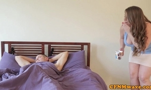 Cfnm pamper sasha downcast and brat coax dude