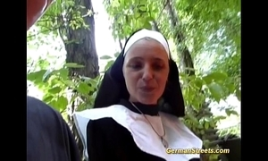 Crazy german nun loves bushwa