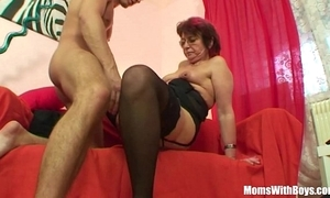 Emo grandma jana pesova screwed beside dispirited nylons