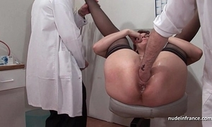 French squirt redhead ass inspected doublefist drilled in advance gyneco