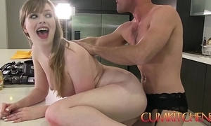 Cum kitchen: busty newborn dolly leigh cooks and receives plowed hard by panty old egg