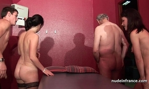 Young french babes gangbanged plus sodomized in 4some nearly papy voyeur