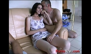 Accepted overwrought surprise, this babe squirts close by the couch! french inexpert