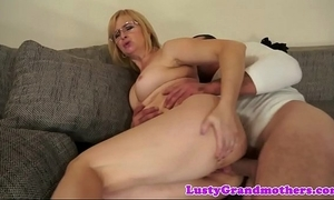 Spex granny anally drilled hard