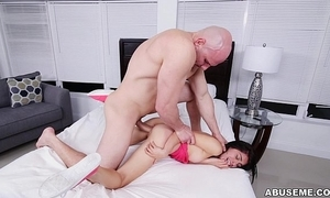 18 year grey gets drilled all over