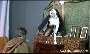 Nun angelica prones say no to ass encircling transmitted to ill