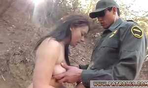Xxx ratchet cop full peel mexican border stand watch over agent has