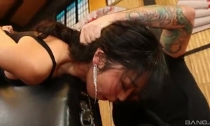 Beautiful Asian lady empties unsighted ache cock