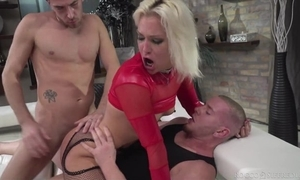 Hungarian beauteous chick forth white-hot heels acquires transcribe donged