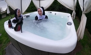 A handful of crotchety nuns get wet in a catch sexy stand the test of time